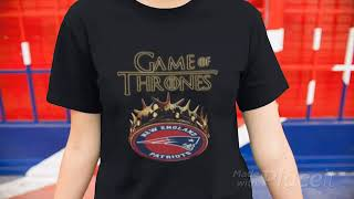 Funny Game Of Thrones Crown New England Patriots shirt