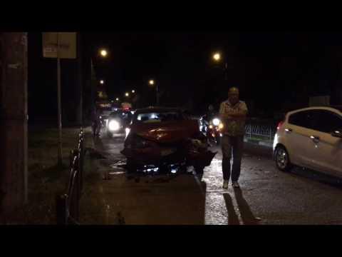 ДТП в Евпатории на улице Фрунзе (13.08.2016) Евпатория 2016 Крым авария