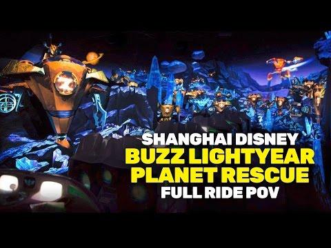 POV Buzz Lightyear Planet Rescue at Shanghai Disneyland