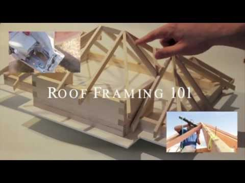 How to build a conventional wood pitched roof framing for House framing 101