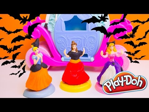 Halloween Play Doh Cinderella Magical Carriage Playset Disney Princess Halloween Costume DIY Hasbro