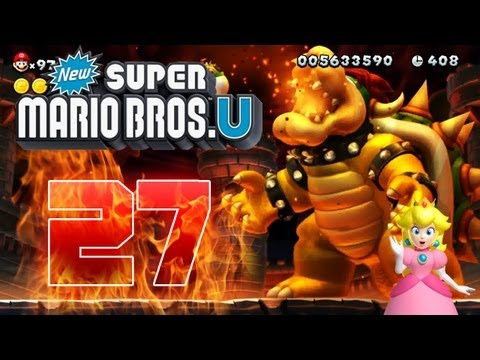 Let's Play New Super Mario Bros U Part 27: Final Bowser & Bowser Jr. Fight + Credits + Star World