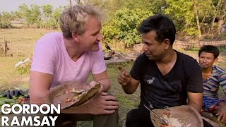 Gordon Ramsay Learns How To Make A Fresh Water Fish Curry | Gordon's Great Escape