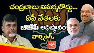 చంద్రబాబుపై విమర్శలొద్దు BJP High Command Warns AP Leaders