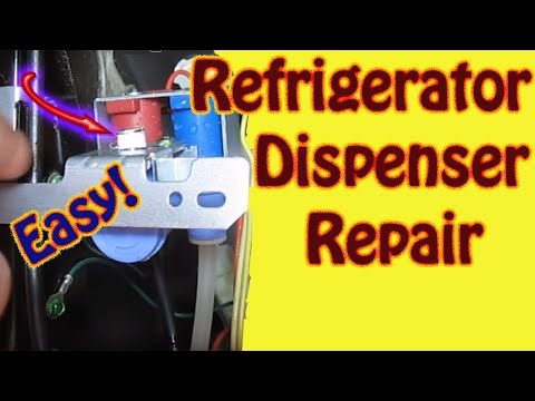 Hotpoint \ GE Refrigerator Repair - Water Inlet Valve Replacement - Leaking Water Dispenser