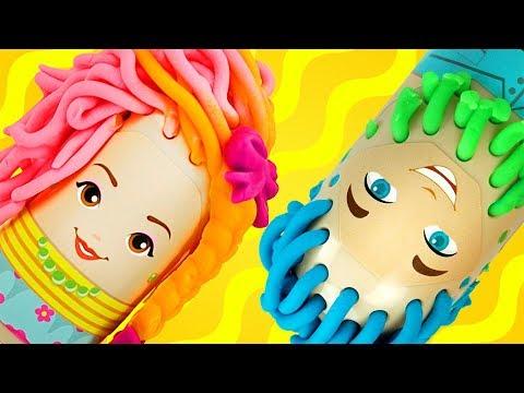 Пластилин для детей, играем с забавным набором