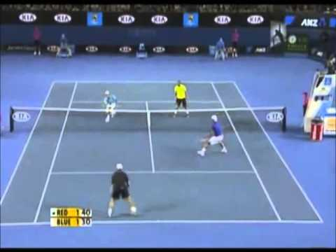 The comedy tennis match ( andy roddick - roger federer - rafael nadal - novak djokovic ) - part 2