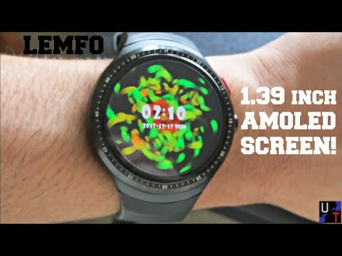 LEMFO LES1 AMOLED Circular Android Smartwatch Unboxing & 1st Impressions!