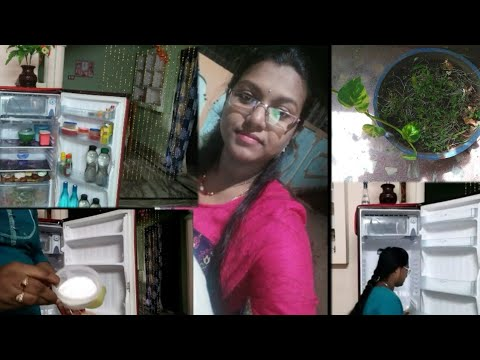 My Tuesday vlog in telugu || Fridge cleaning tips and organizing fridge