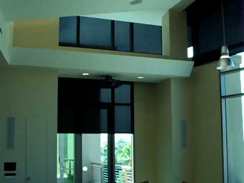 1% Openess Motorized / Automated Roller Shades - Blinds w/ Somfy Motors and Skyco Shades