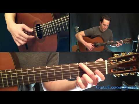 Classical Gas Guitar Lesson - Mason Williams - Part Four