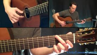 Classical Gas Guitar Lesson - Mason Williams - Part Four