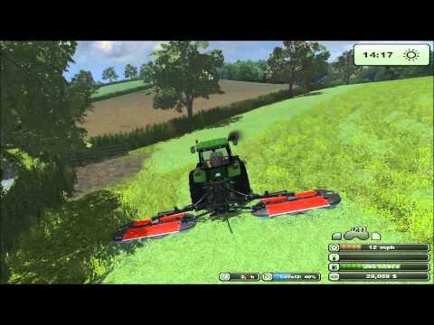 farming simulator 2013 Oak Farm mowing the grass