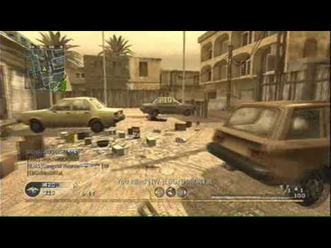Call of Duty 4: Team Deathmatch 13 on Backlot(M60 Gameplay/Commentary)