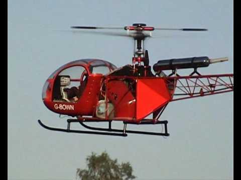 RC polomaketa vrtulníku Alouette 2