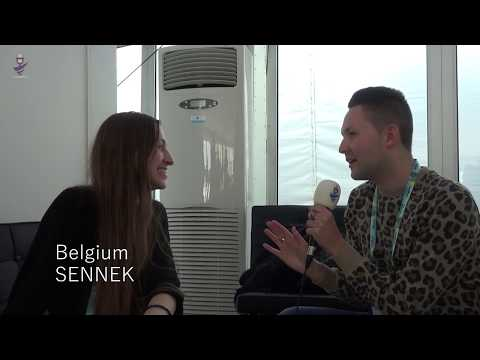 Eurovision 2018 - Interview Sennek (Belgium) after first rehearsal