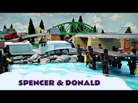 A Busy Day For Spencer & Donald Thomas And Friends Trackmaster Kids Toy Train Set