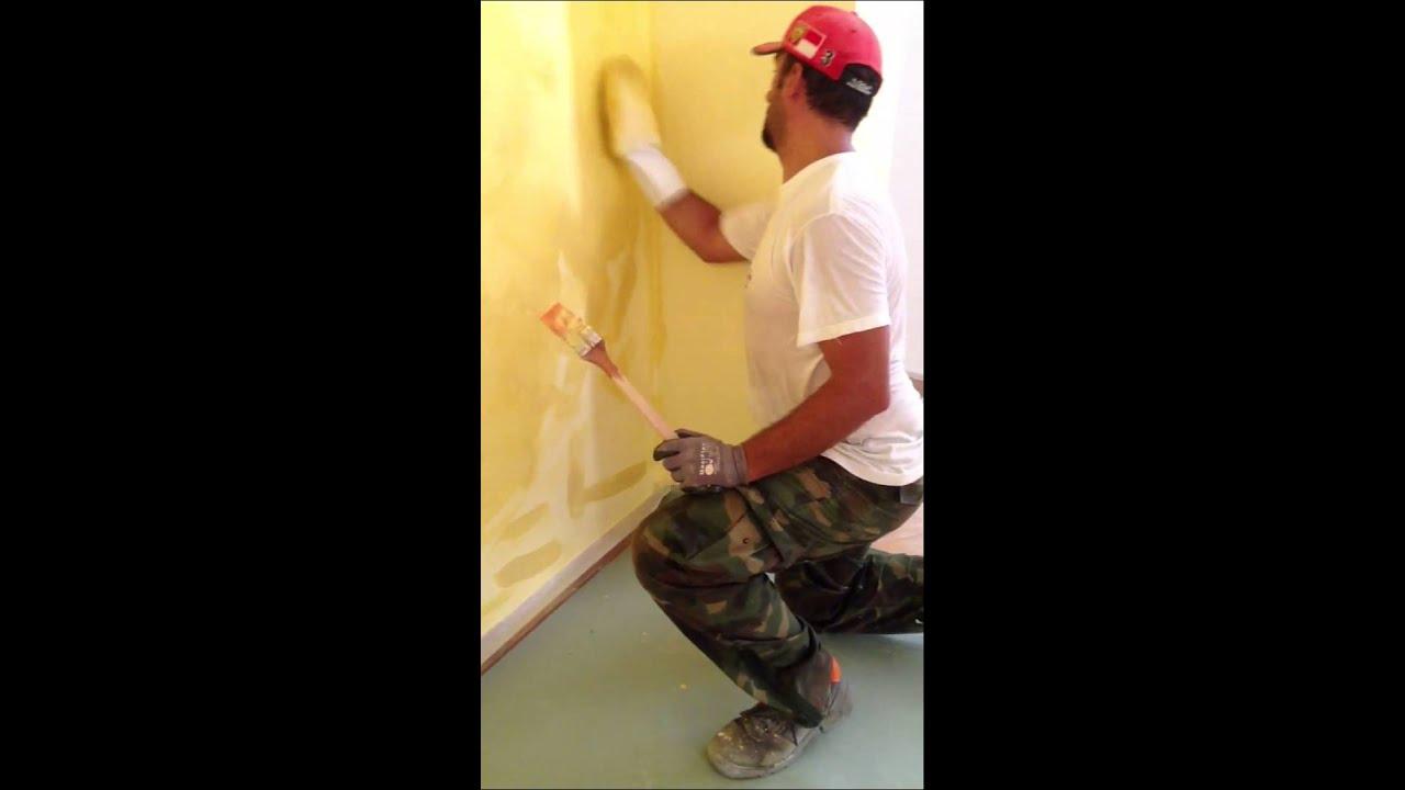 Pittura con effetto velato - YouTube