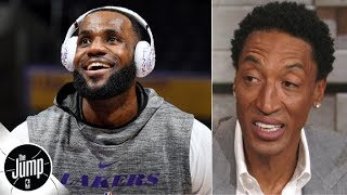 Scottie Pippen reacts to LeBron calling himself GOAT: 'You can't say you're the greatest' | The Jump