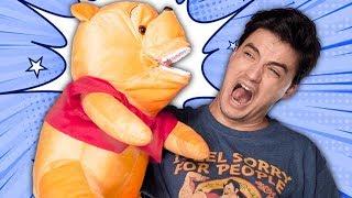 ABRINDO PRODUTOS BIZARROS - Comprei o Pooh com dente!