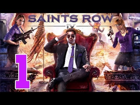 Let´s Play Saints Row 4 Gameplay Deutsch - Part 1 - Hello Mr. Saints President !