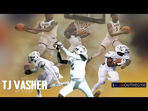 Best Two Sport Athlete in Texas: TJ Vasher (2015 Football/Basketball Highlights)