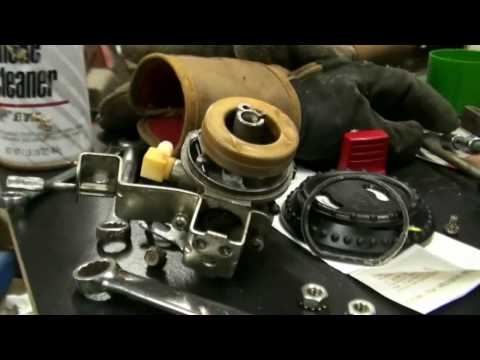 Tecumseh Snow King Carburetor Repair Video on Troy-Bilt Snow Blower part #2