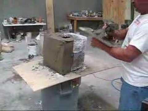 Decorative Concrete Stone Masonry Demonstation