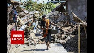 Lombok earthquake: Moment the quake struck caught on camera - BBC News