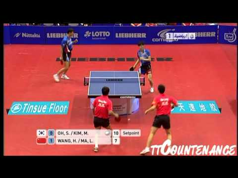 World Team Cup: Wang Hao Ma Long-Oh Sang Eun Kim Min Seok