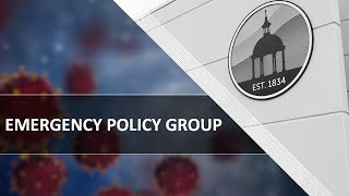 Emergency Policy Group Meeting - 04.20.2020
