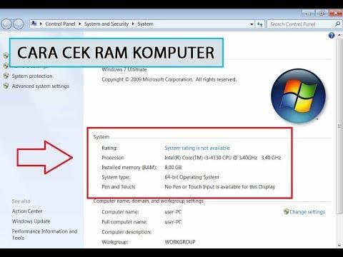 Cara Mengetahui Spesifikasi RAM, Proccesor & Tipe Komputer Kita