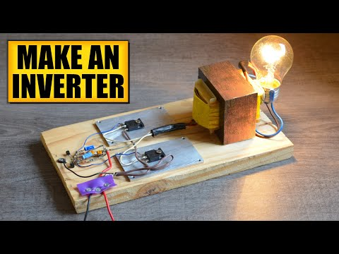 Make an inverter : DIY Experiments [#2] Power AC devices with a battery / Simple inverter DIY