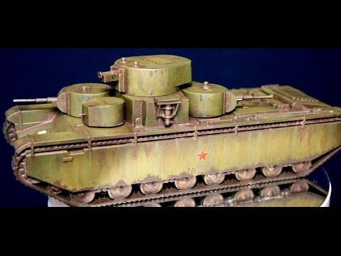 Painting Zvezda's 1/100th T35 Russian Tank for Flames of War