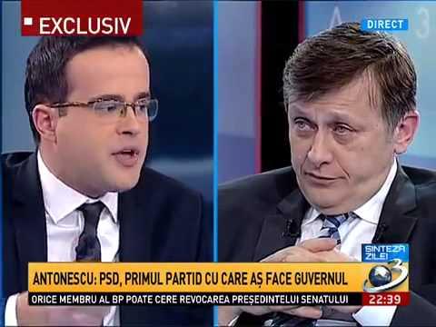 Crin Antonescu vs armata PSD-ista de propaganda - Antena 3.