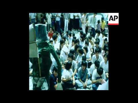 UNUSED 21 09 80 STUDENTS PROTEST IN BANGKOK AT SOUTH KOREAN DEATH SENTENCE