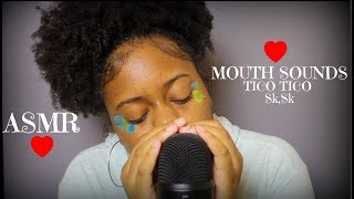 ASMR | *Mouth Sounds* Tongue Clicking, Sk, TicoTico (Close & Deep Ear Tingles)