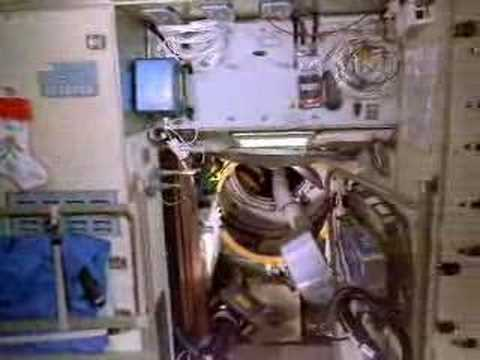 Astronauts floating weightless