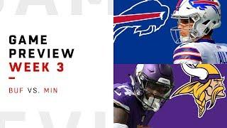 Buffalo Bills vs. Minnesota Vikings | Week 3 Game Preview | NFL Film Review
