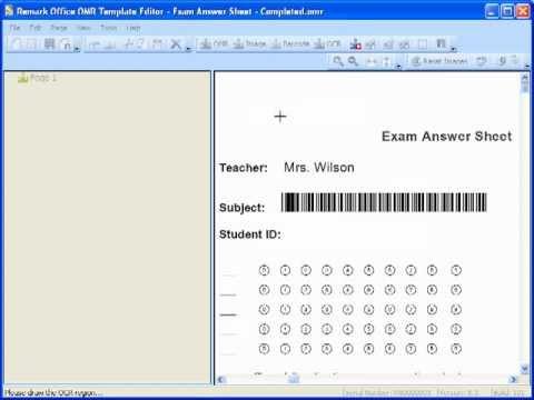 Test Grading Sheet Test Grading With Remark