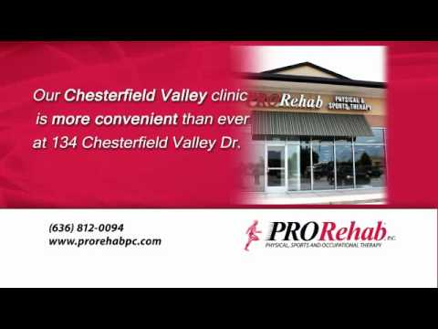 Check out PRORehab's Chesterfield Valley location that opens May 27,2011!