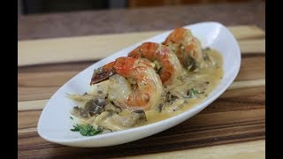 Sauteed Shrimp with Oyster Mushrooms and Grand Marnier