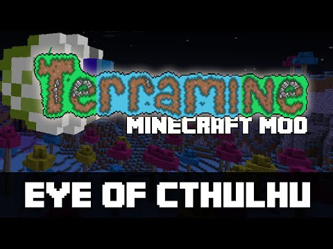 Minecraft | TERRARIA MOD! (Eye of Cthulhu, Hermes Boots and More!) | TOP TERRARIA MOD!