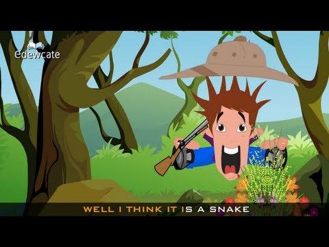 Edewcate english rhymes – Walking through the jungle nursery rhyme