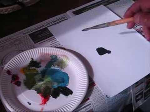 Cours de peinture comment faire du violet - Comment faire du bleu en peinture ...