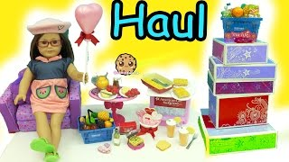 Giant American Girl Doll Food Haul - Cookie Swirl C Toy Unboxing Video