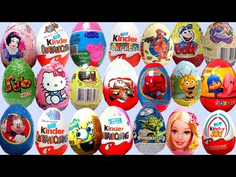 ★★ 20 Surprise Eggs ★★ Angry Birds SpongeBob Mickey Mouse - Surprise Toys Review
