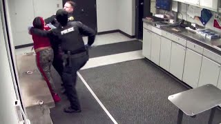Woman Punches Brown Deer Police Officer in Booking Room