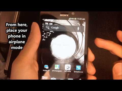 How to Unlock Sony Xperia T LT30a from Bell by Unlock Code from Cellunlocker.net