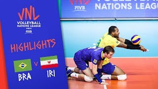 BRAZIL vs. IRAN -  Highlights Men | Week 2 | Volleyball Nations League 2019